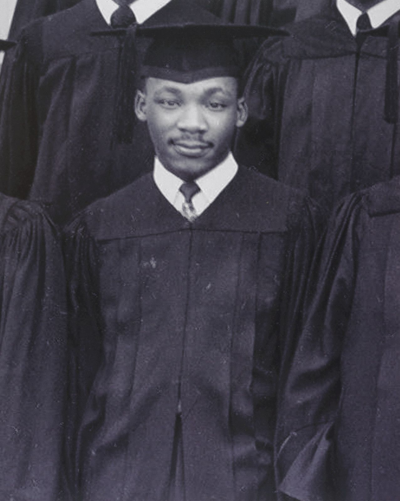 Martin Luther King Jr. - Minister, Civil Rights Activist - Biography Martin luther king graduation photo