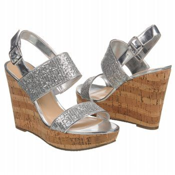 Women's Touch of Nina Valrie Silver Brie Glitter FamousFootwear.com