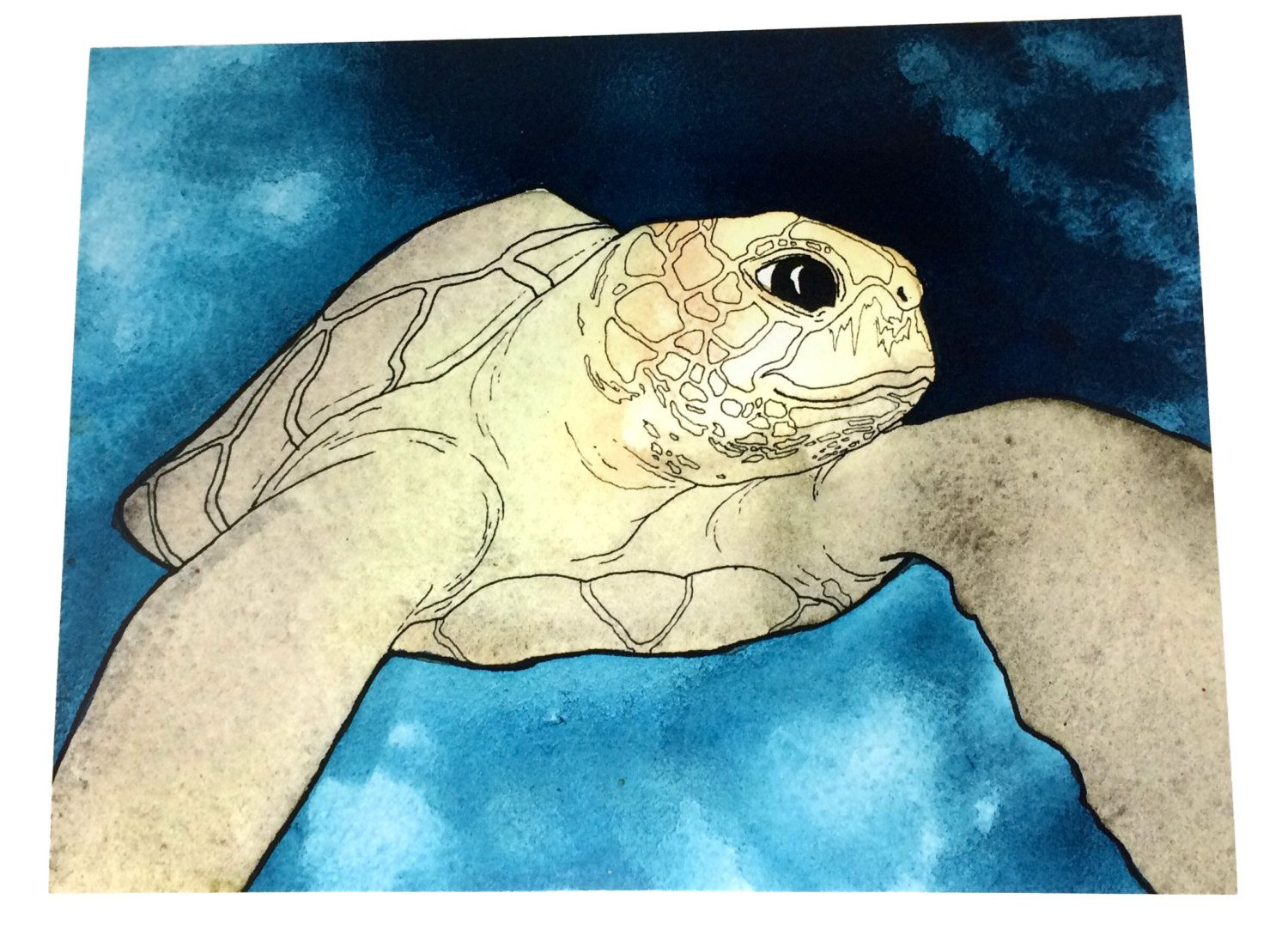 Sea Turtle Art, Beach Themed Wall Art, Beach House Decor, Bathroom ...