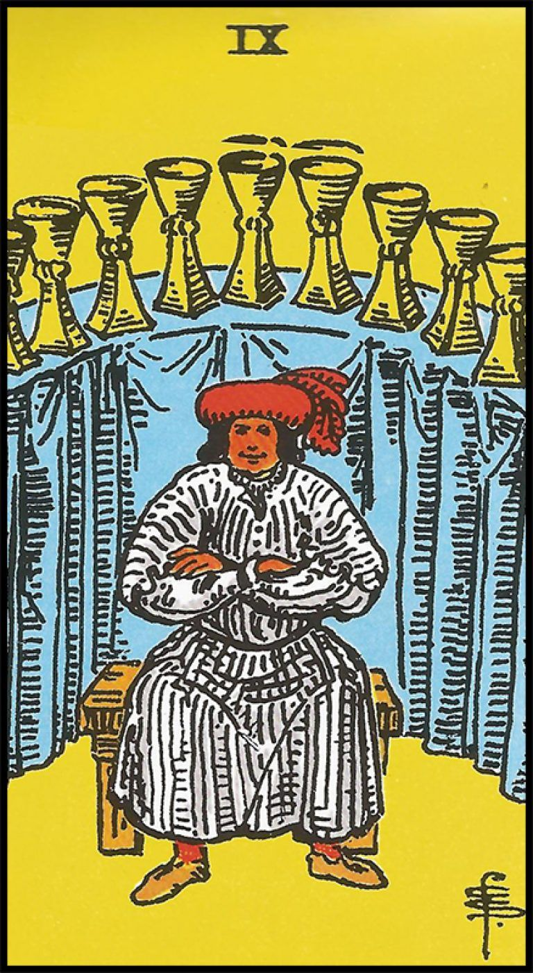 Significado De 9 De Copas Arcanos Menores Tarot Cartas Del Tarot Arcanos Menores
