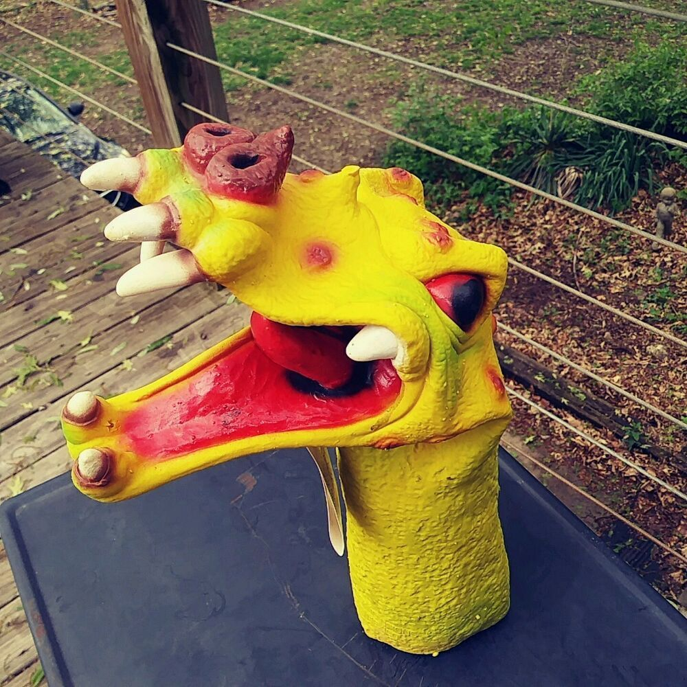 """VTG 1992 Mask Illusions HAND CRITTERS /""""SPOTTED DRAGON/"""" HALLOWEEN HAND PUPPET"""