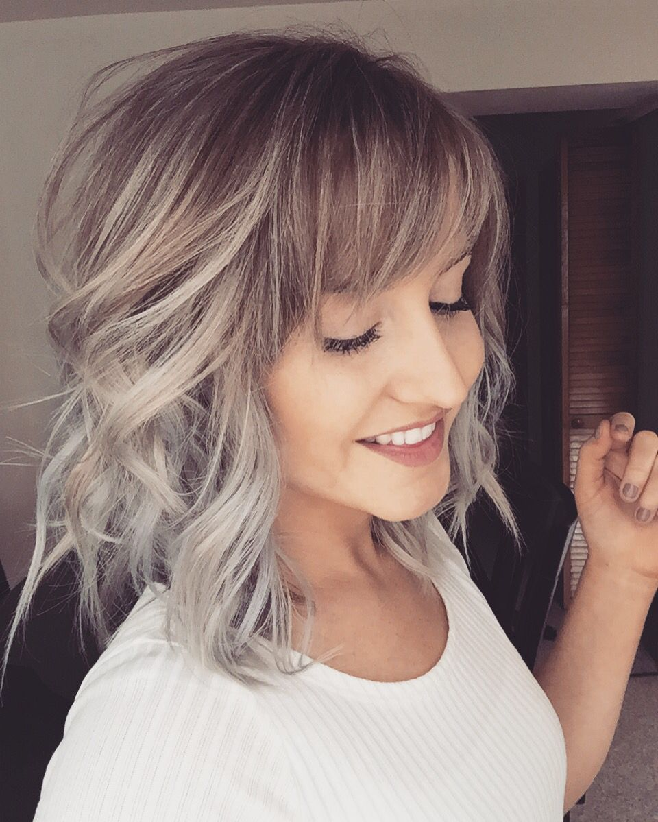 Loving My New Hair Silver Blonde Balayage Hair Pinterest