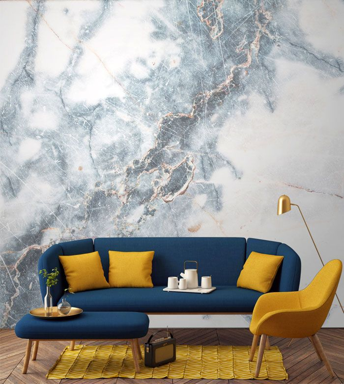 Modern Living Rooms · Elegant Expensive Looking Wall Design By Murals  Wallpaper