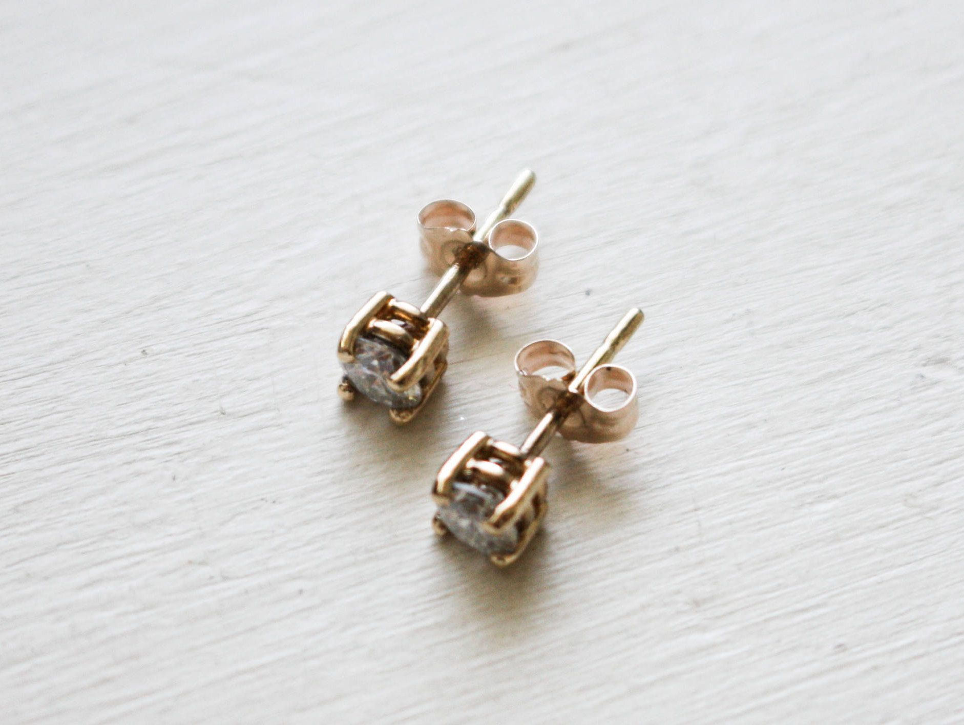 brilliant moissanite charles square earrings colvard tgw classic gold pin stud