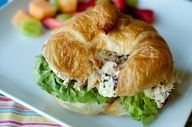 Apple-Almond Chicken Salad on a croissant