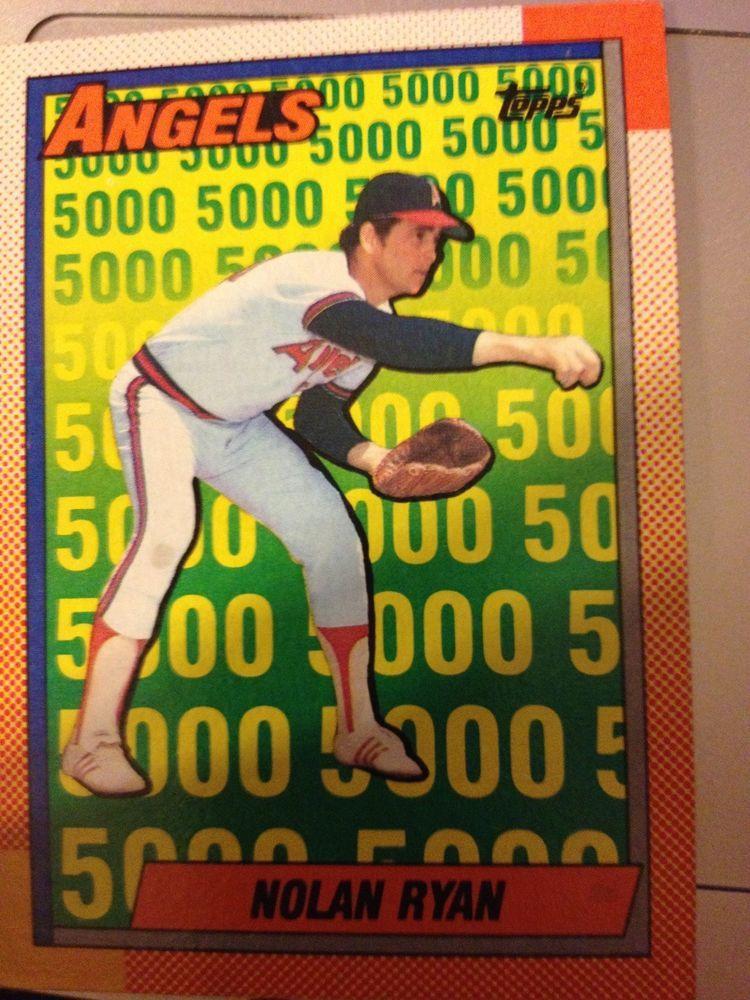 Topps 19903 Nolan Ryan 5000 Strikeouts Anaheimangels My