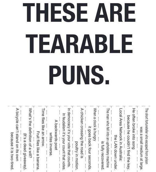 World's hundred worst puns - click to see the full list