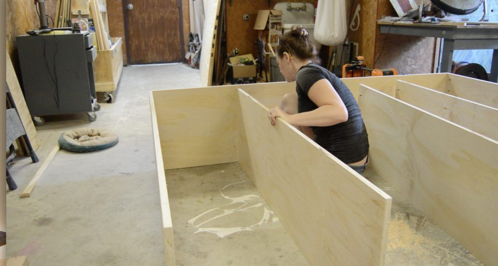 DIY Queen Bed Frame with Drawer Storage in 2020 (With