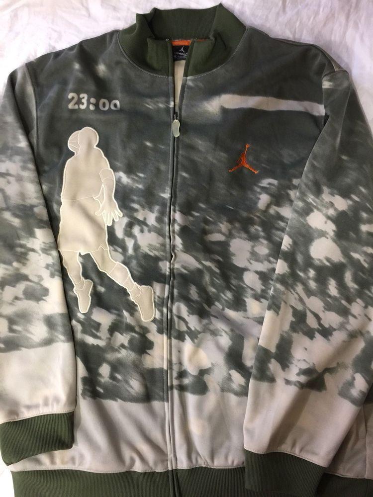 c587e27e183 eBay #Sponsored Vtg Air Jordan track jacket Dunk Nike Army Olive green Camo  sweatshirt hoodie XX