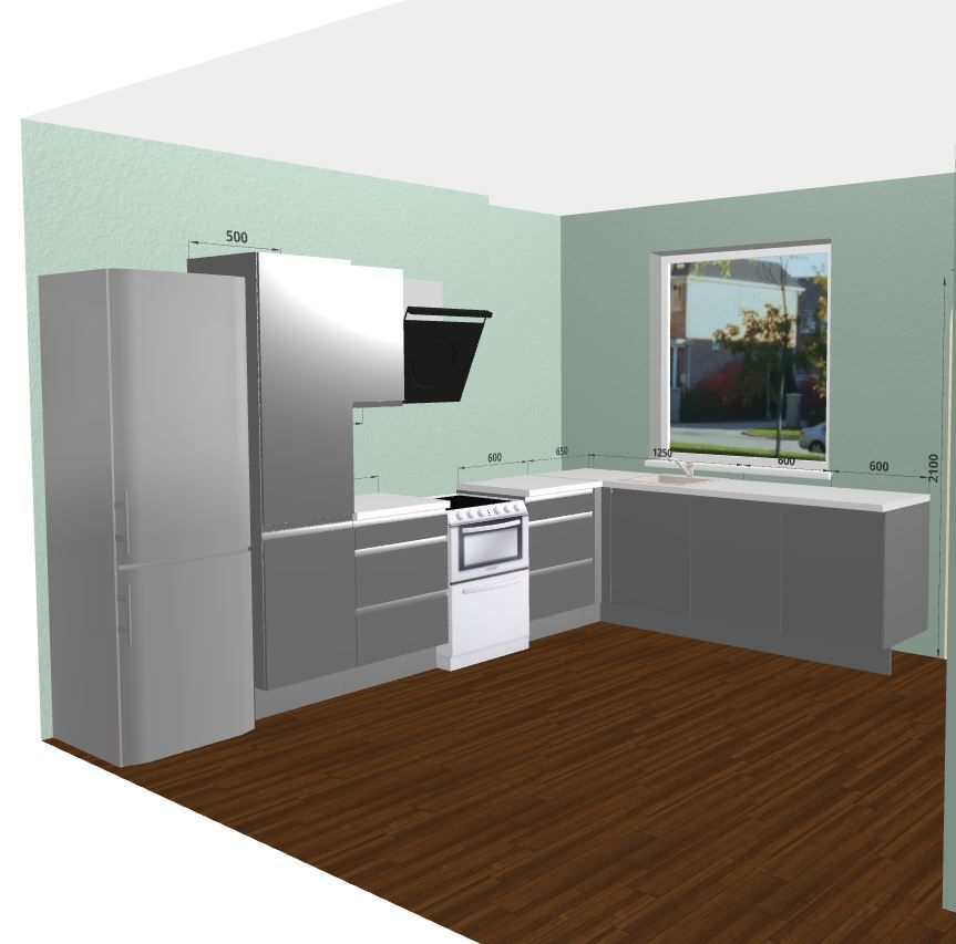 Glossy Grey Kitchen With Corain Worktops And Miele Appliances. Free 3D  Kitchen Planner.