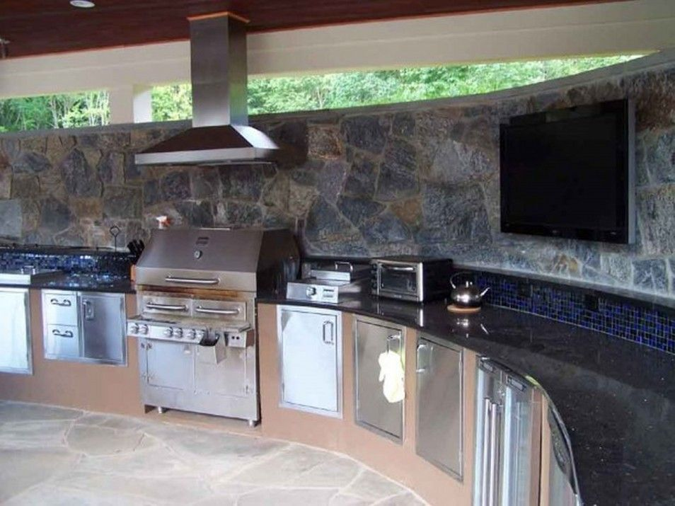 Amazing Outdoor Kitchens That Simple And Beautiful Outdoor Impressive Outdoor Kitchen Layout Decorating Inspiration