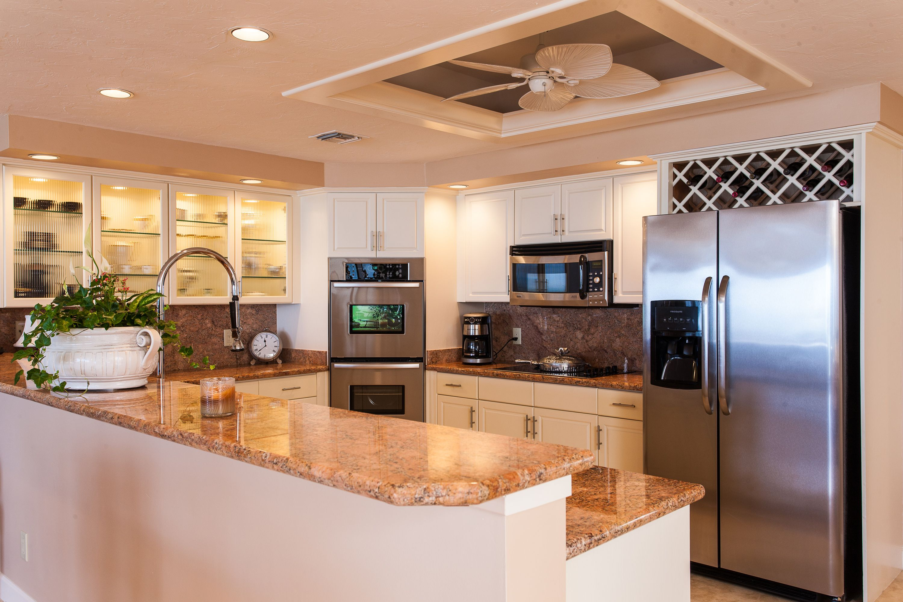 Beautiful gourmet kitchen with top of the line appliances mls