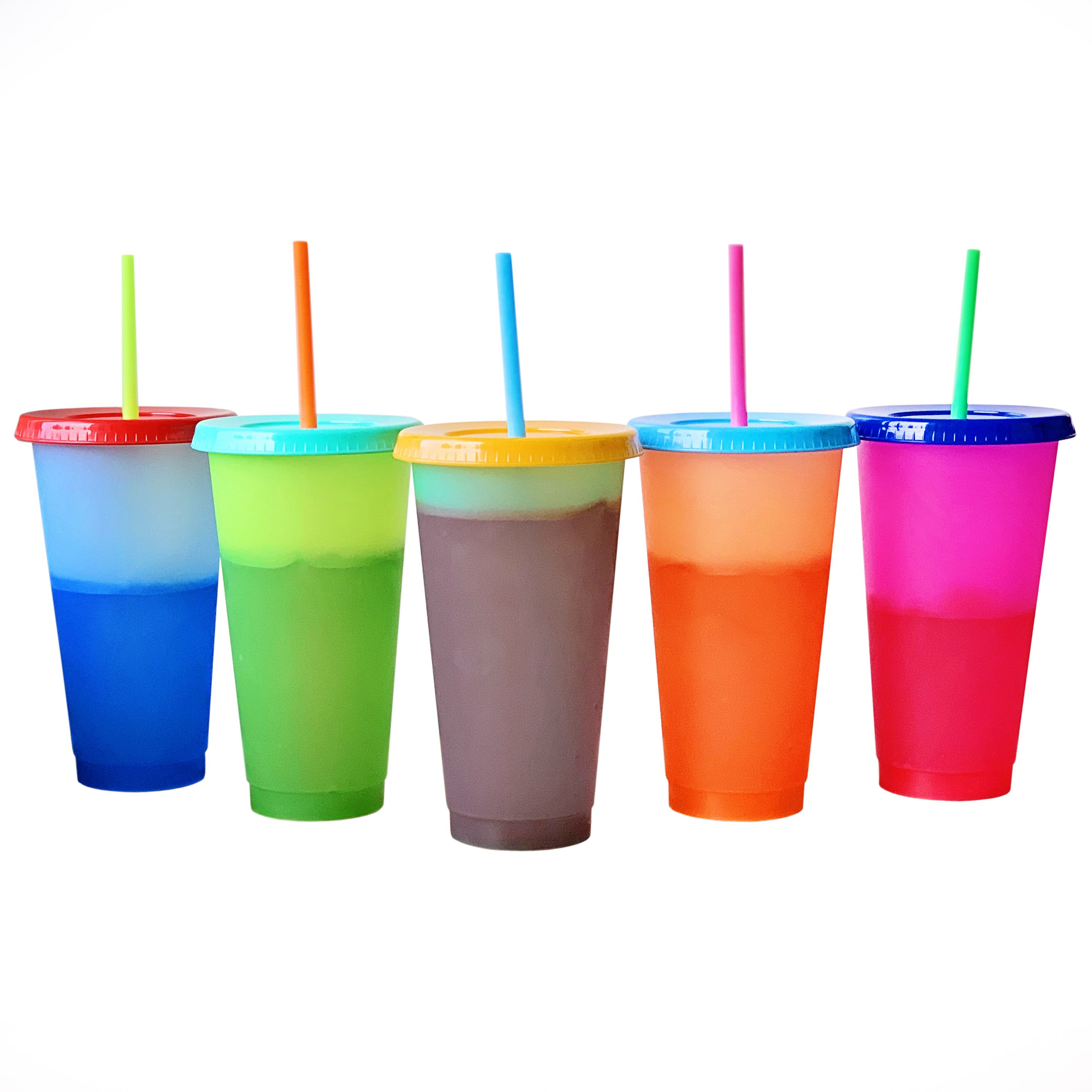 Color Changing Cold Drink Cups 24oz Blank Cold Cups 5