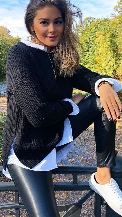 Schwarzer Pullover – 2019 - Outfit Diy