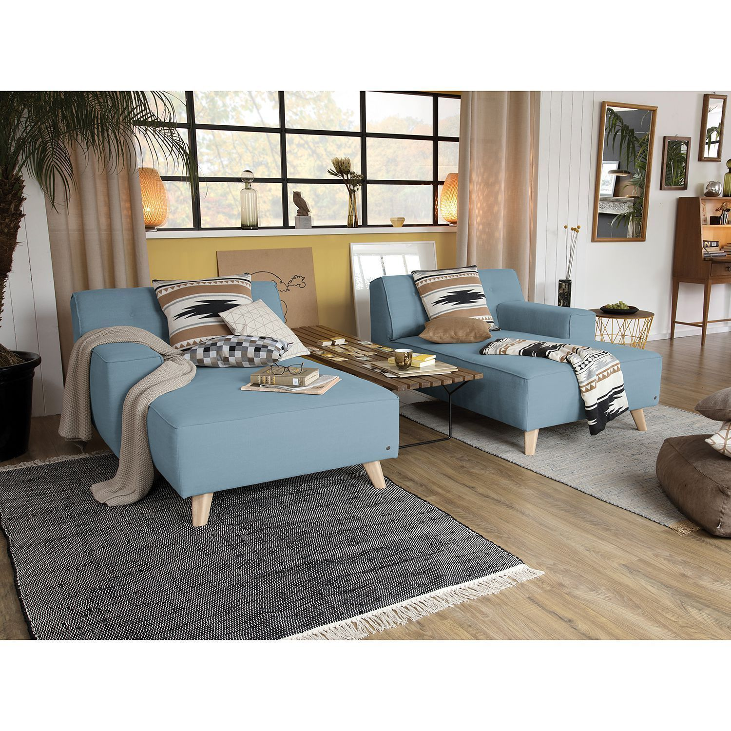Recamiere Nordic Chic Webstoff Io Net Interieur In 2020 Nordic Chic Boho Living Room Farm House Living Room
