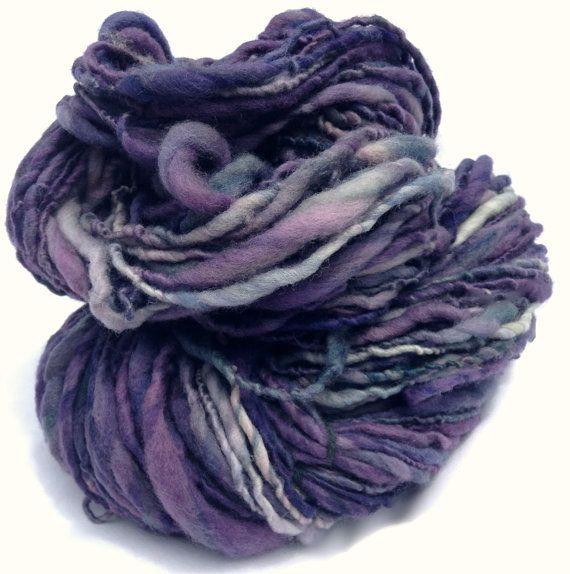 Handspun Yarn Hand Dyed Thick and Thin Merino by DavenportGroves, $18.00
