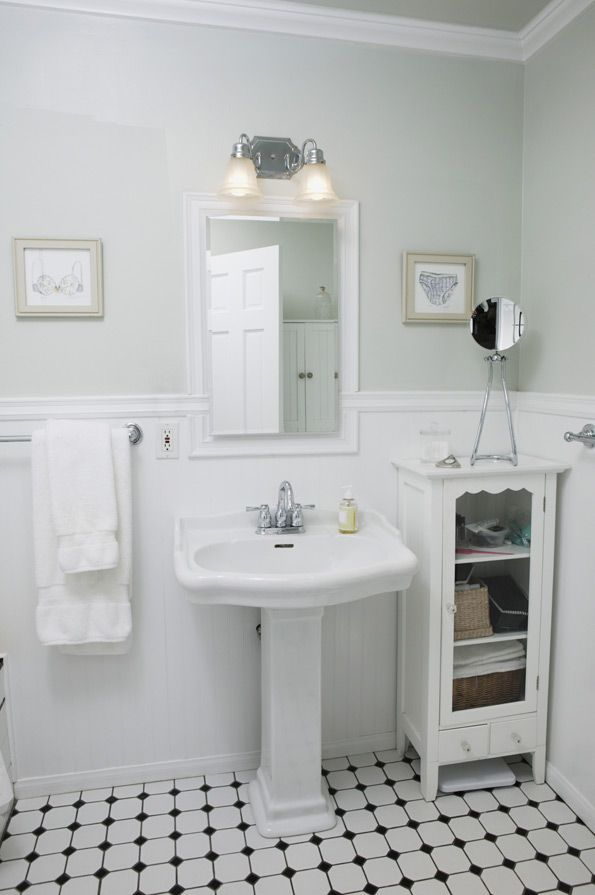 whats-old-is-new-again | new house | pinterest | bath, wainscoting