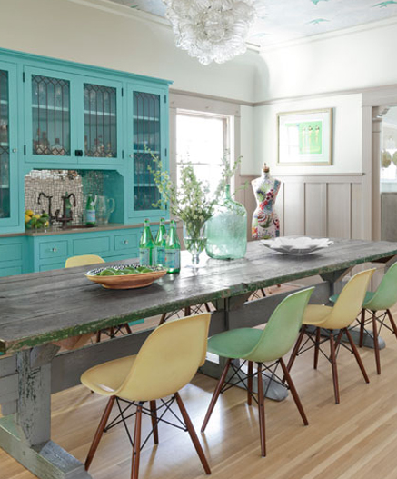 awesome turquoise kitchen cabinets dining | turquoise cabinets with table in kitchen | Wallpaper ...
