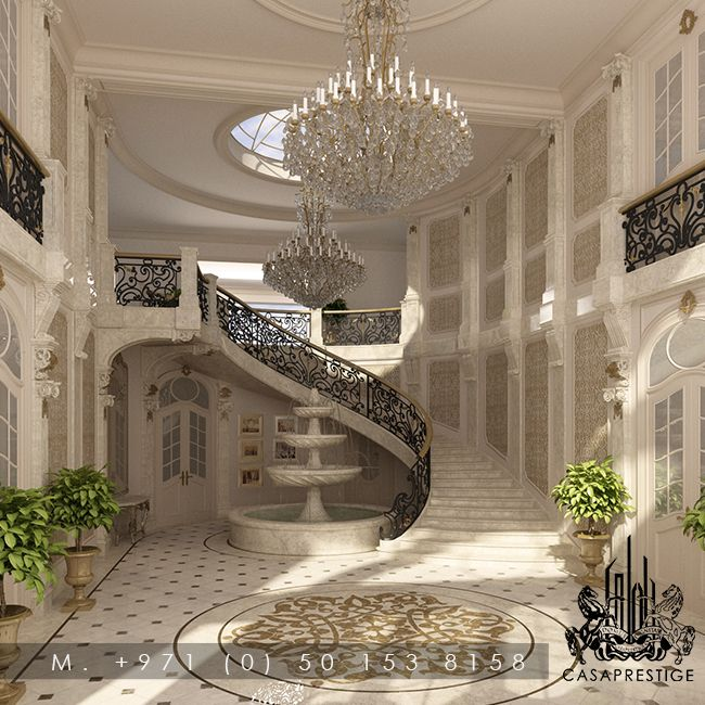 Luxury entrance hall design by casaprestige luxury for Interior designs for hall images