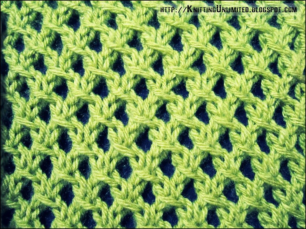 The Irish Mesh Stitch Is A Simple Knitting Stitch And Would Look