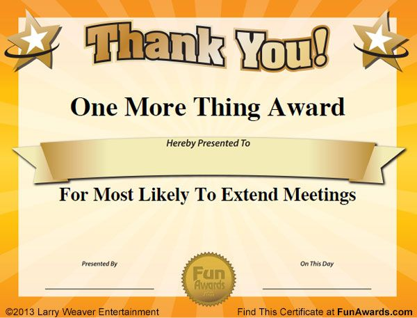 Silly office awards work ideas pinterest google search google and appreciation for Google award template