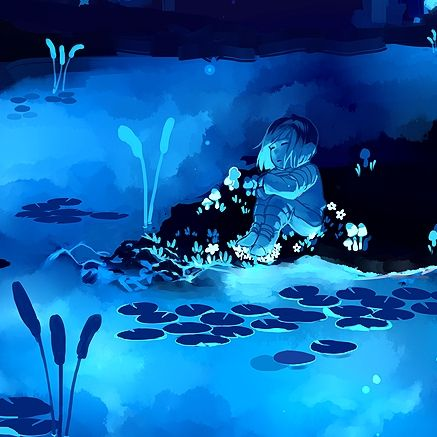undertale frisk in waterfall - photo #29