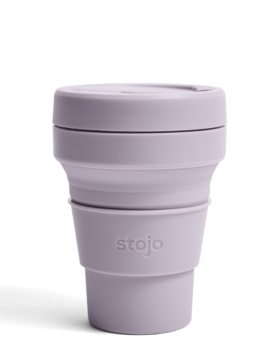 Stojo Lilac Silicone Collapsible Coffee Cup Trouva in