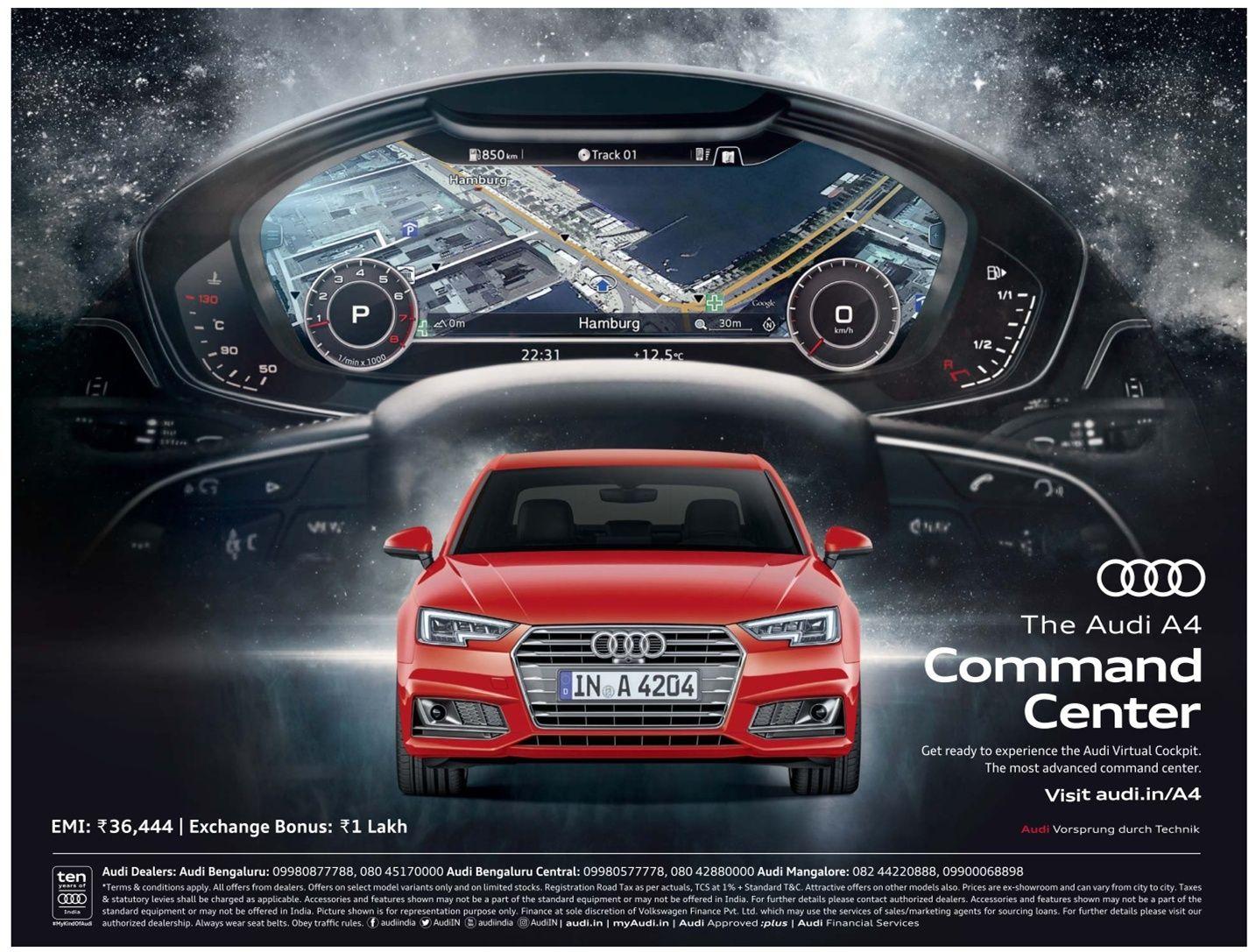 The Audi A4 Command Center Ad Car Advertising Audi Car Advertising Design