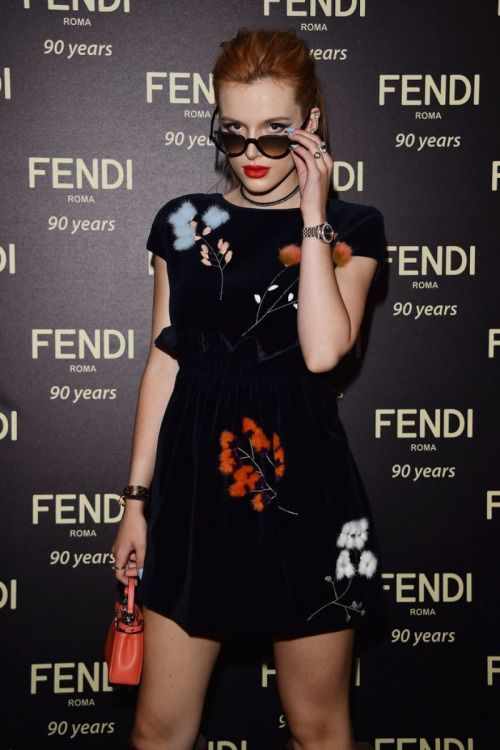 bc9adc7e1f24 Bella Thorne attends the Fendi Roma 90 Years Anniversary Welcome Cocktail