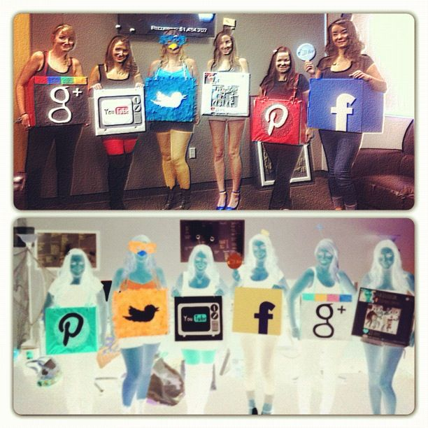 I\u0027m pretty sure these social media logos got owned today! My team - halloween costume ideas for the office