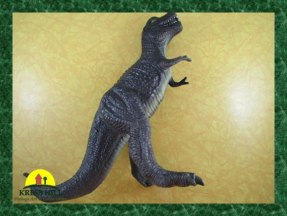 Retro Large Grey Dinosaur 13 Tall Heavy by KressHillVintage