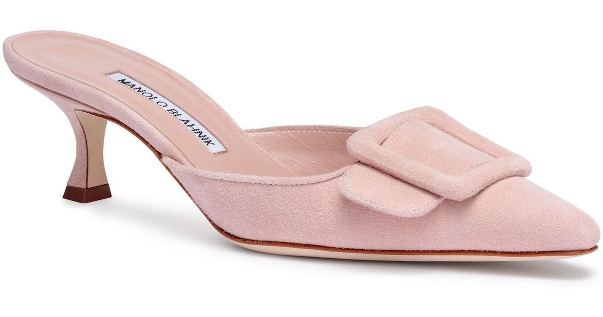 454eb30d7d9be Buy Manolo Blahnik Women's Maysale 50 Peonia Pink Suede Mules, starting at  £545. Similar products also available. SALE now on!