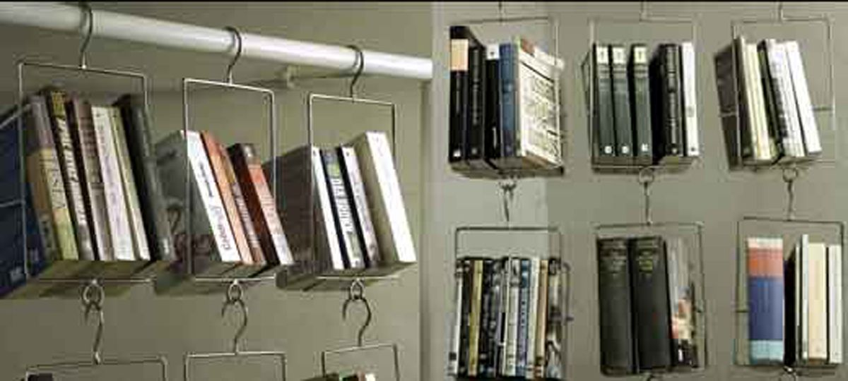 Creative Hanging Book Storage Creative Bookshelves Cool Bookshelves Bookshelf Design
