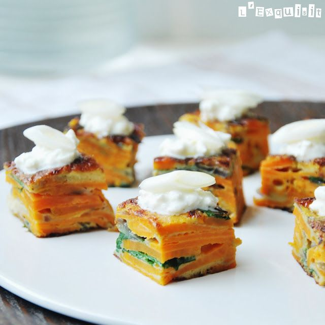 Sweet Potato Omlette With Spinach And Ricotta For The