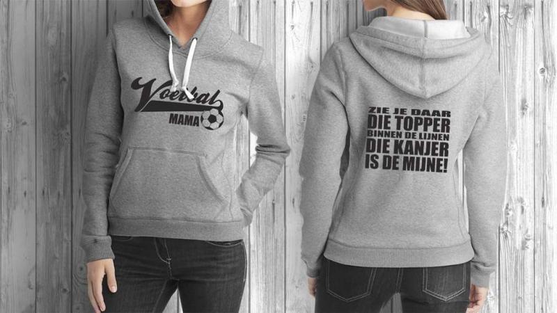 c8d76c9780b T-shirt, sweater of hoodie voor de Voetbal Mama. | Speciale (Sport ...