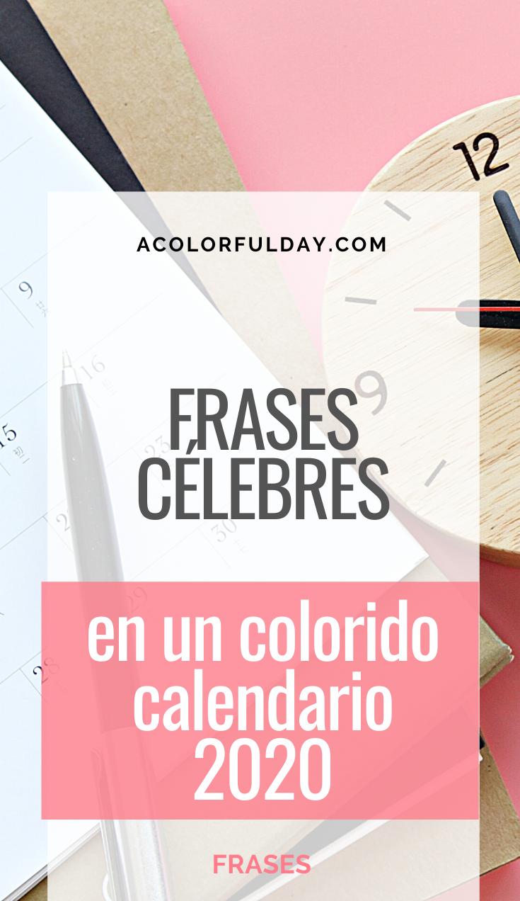 Calendario 2020 Con Frases Célebres Frases Motivadoras