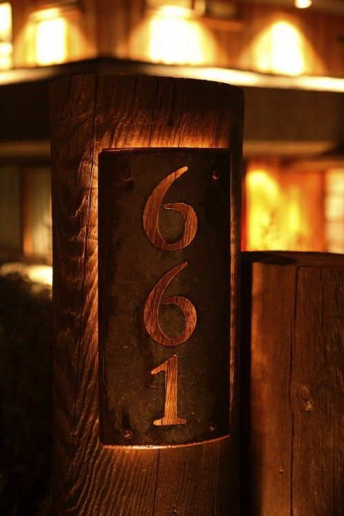 Back Lit House Number Metal House Numbers Address Marker