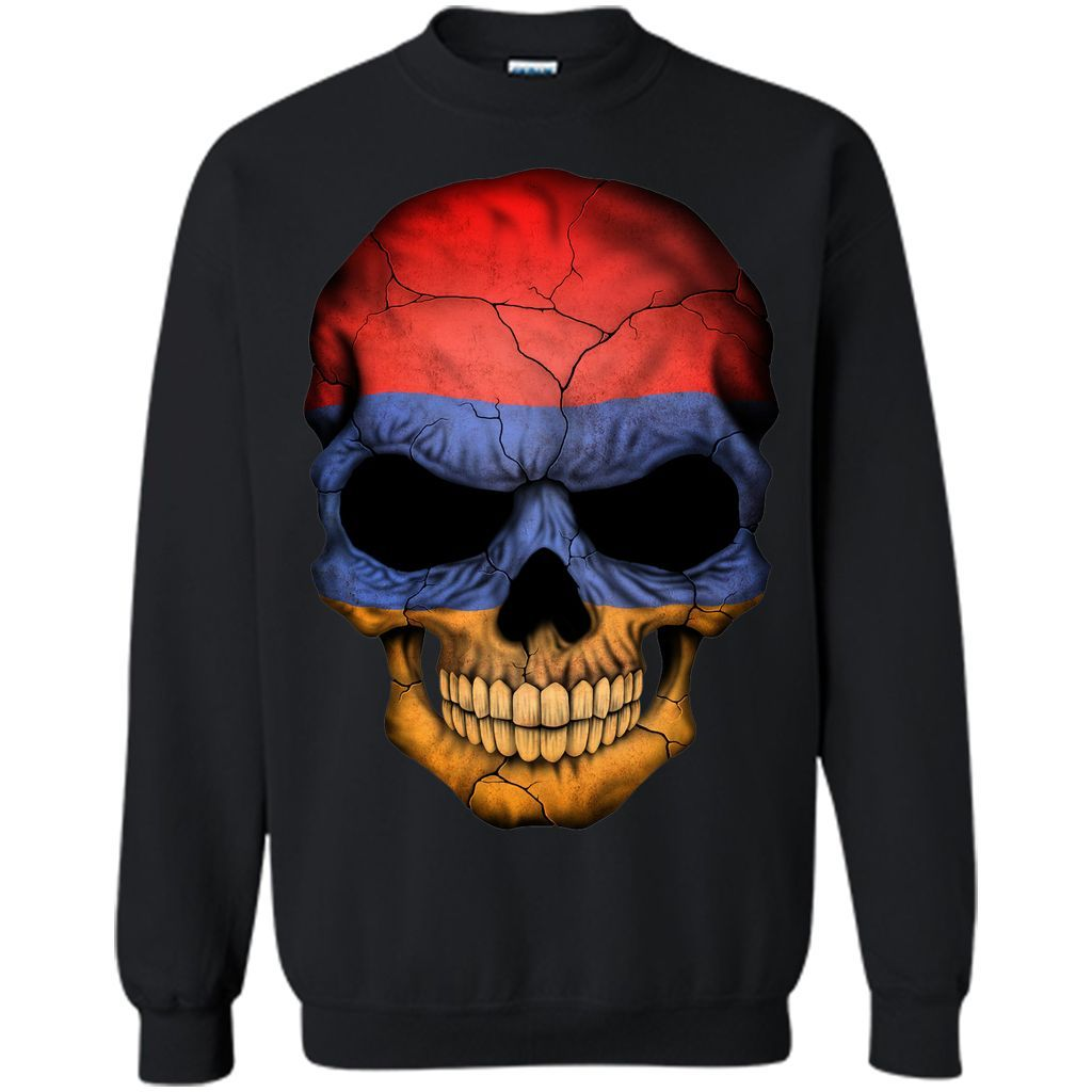 Armenian Flag Skull Armenia T Shirt