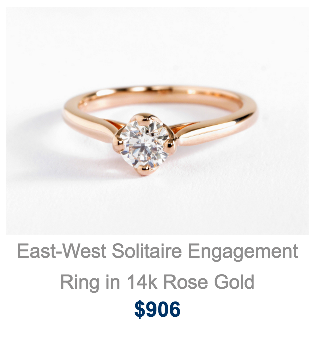 A Custom East West Build Your Own Engagement Ring From Blue Nile.