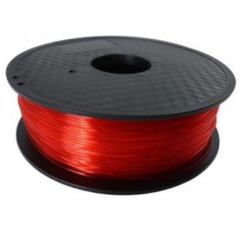 PLA Filament 1,75mm 1kg rot transparent zertifiziert