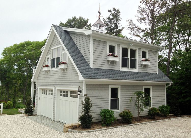 Detached Garage With Loft And Deck Capewide Enterprises Llc Garage Apartment Pinterest