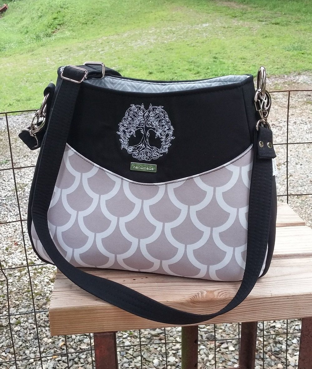 Concealed Carry, CC Purse, Tote, Black and Gray, Cross body Bag, Tree of Life by AmericanStitchers on Etsy