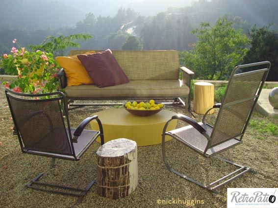 Outdoor Room With All Vintage Outdoor Furniture Circa 1930 S By Howell Co Spring Steel Chairs Availa Vintage Outdoor Furniture Outdoor Furniture Outdoor Rooms
