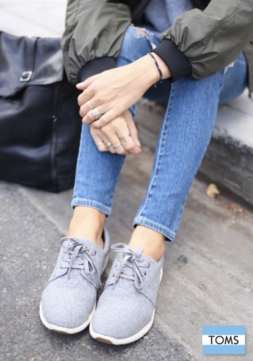 a0de3735481 Grey Felt Suede Del Rey Sneakers-Toms- 79