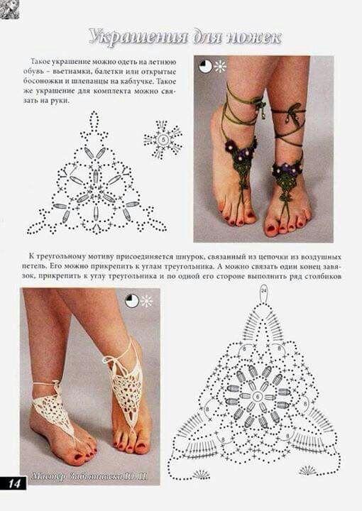 Lujoso Patrón De Crochet Libre De Las Sandalias Descalzas ...