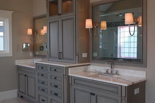 Like Gray Tone But Too Dark Bathroom Vanity Designs