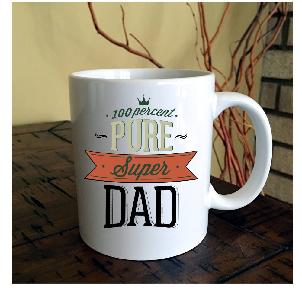 Super Dad Coffee Mug | Coffee Mug for Dad by BrookHillCoffeeMugs on Etsy