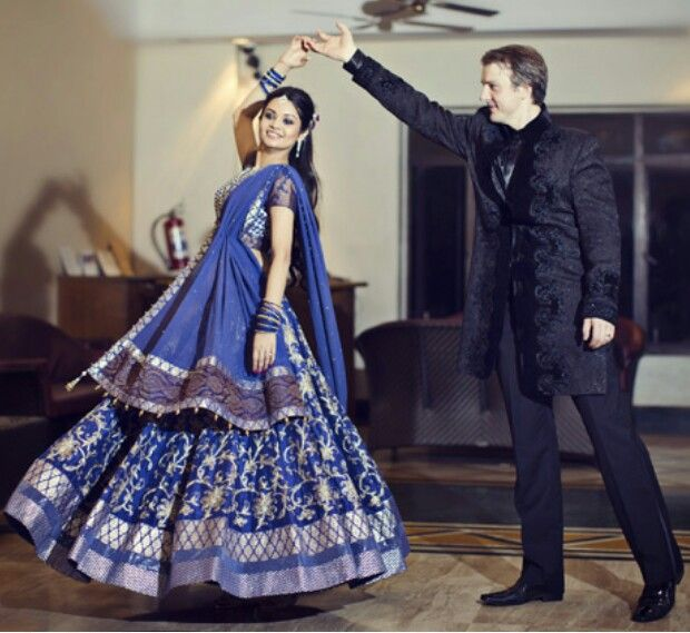 Royal Blue Reception Outfits