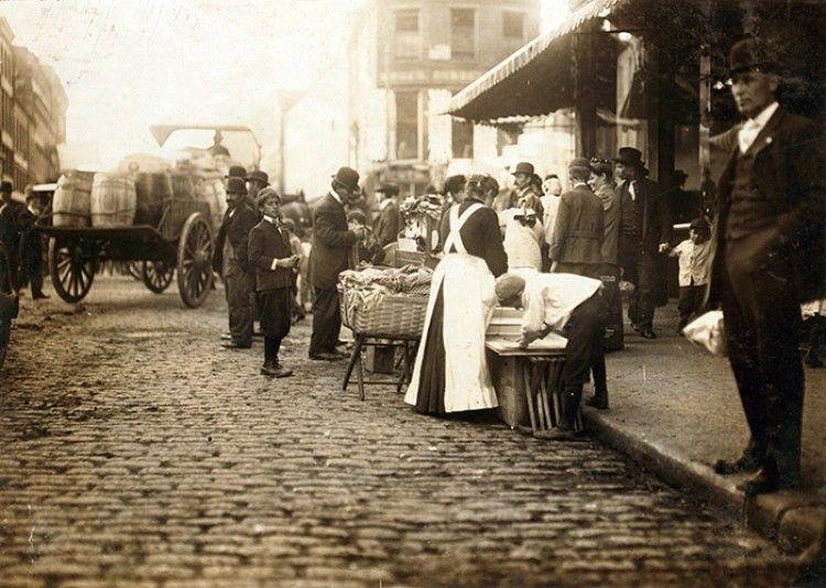 Boston street scene 1900s boston history new england