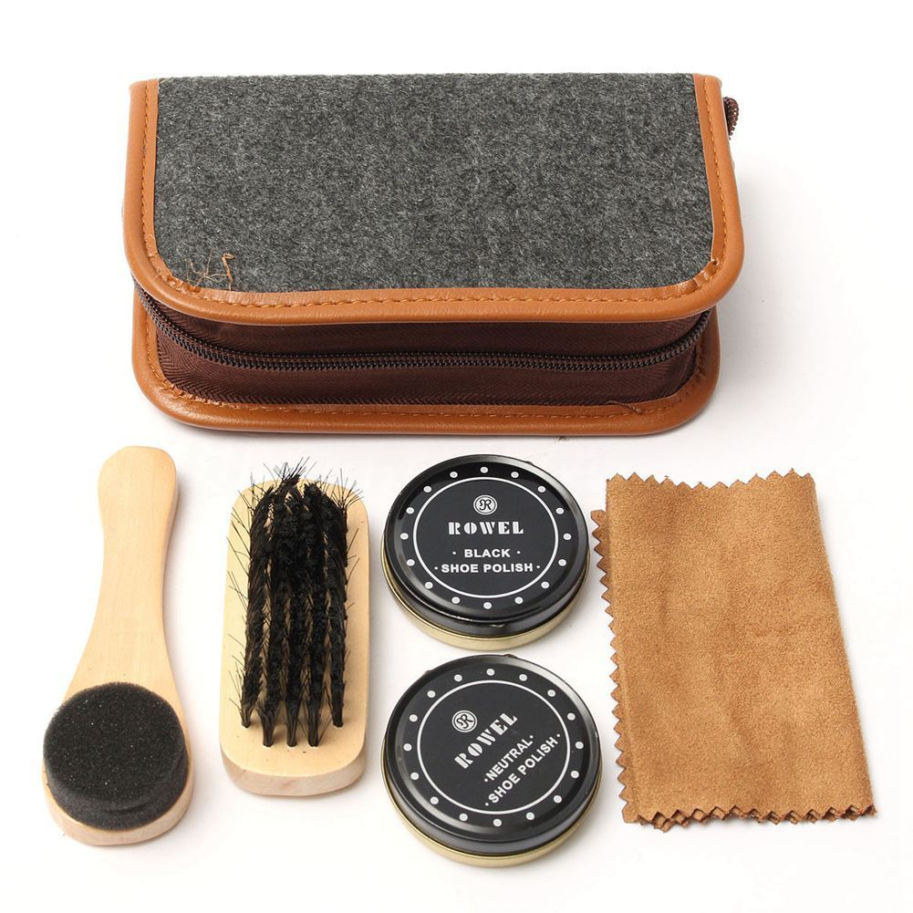hot new products many styles most popular $9.93 AUD - Shoe Shine Care Kit Neutral Polish Brush Leather Shoes ...